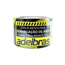 Fita Plástica Demarcação Área Sem Adesivo 70mmX100m Adelbras -