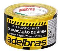 Fita Plástica Demarcação Área Sem Adesivo 70mmX200m Adelbras -