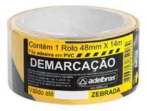 Fita Pvc Zebrada 48mmX4m Amarela e Preta Adelbras -
