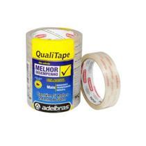 Fita Qualitape Transparente 24x50 Pacote com 20 - Adelbras