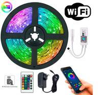 Fita Rgb 5050 5m Wi-fi  Com Controle Remoto E Fonte - Lm