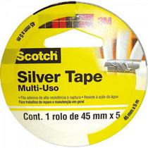 Fita Silver Tape 45MM X 5M Sleeve 3939 Cinza 3M -