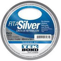Fita Silver Tape 48mm X 5mt Prata - Tekbond
