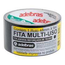 Fita Silver Tape Adelbras 48mmx05m Preta - 3M