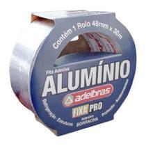 Fita silver tape aluminio 48mm x 30mt - adelbras -