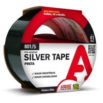 Fita Silver Tape Multiuso 45mmx5m Preto Adere -
