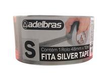 Fita silver tape prata adelbras 48mm x 10 metros -