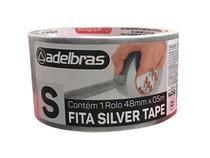 Fita silver tape prata adelbras 48mm x 5 metros -