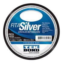 Fita Silver Tape Tekbond Preta 48mmx05mt - Rcdeletrica
