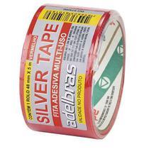 Fita Silver Tape Vermelha 48x5 Adelbras - Adelbrás