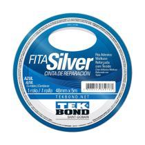 Fita Silver Tek Bond Azul Multiuso reforçada com tecido 48mm x 5m - Tekbond