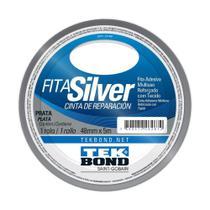 Fita Silver Tek Bond Prata 48mm x 5m Multiuso Reforçada com tecido - Tekbond