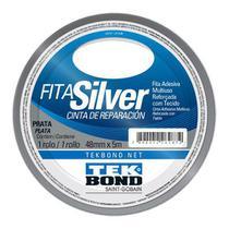 Fita Silver Tekbond 48mm x 5m Prata -