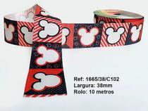 Fita sublimada mickey com listras - 1665/38c102-e49 - Sinimbu