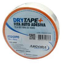 Fita Telada Fibra de Vidro para Drywall Âncora Drytape 48mm x 90 Metros - Ancora