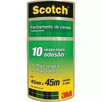 Fita Transparente de Empacotamento 45x45 Caixa c/ 200 Rolos 3M -