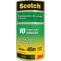 Fita Transparente de Empacotamento 45x45 Pacote c/ 4 Rolos 3M - 3M Scotch