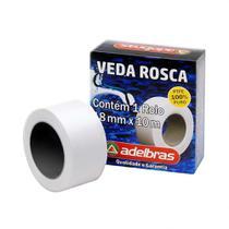 Fita Veda Rosca Adelbras Rolo 18mm x 10m Branca 1 Unidades -