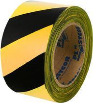 Fita Zebrada 200mts Preto/Amarelo - Plastcor - NÃO ESPECIFICADO