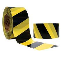 Fita Zebrada 200mx70mm Isolamento Preta E Amarela Pps06 - Plastcor -