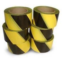 Fita Zebrada 70mm X 200mm Amarelo E Preto - 10 Unidades - Plasticor