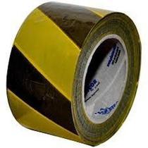 Fita Zebrada  Amarelo/Preto 200mt Plastcor - FM