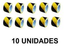 Fita Zebrada para Isolamento sem Adesivo 70mmx200m Kit com 10 Peças PROTEPLUS-380002 -