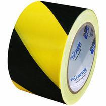 Fita Zebrada para Sinalização Preta e Amarela 70 X 200mts - Plastcor