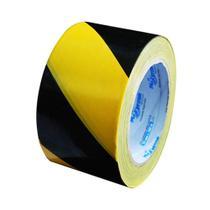 Fita zebrada preta e amarela 200m - PLASTC