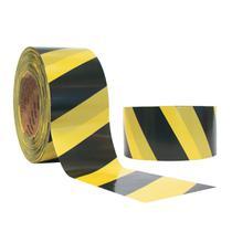 Fita Zebrada Preto e Amarelo 70mm x 180M Koretech -