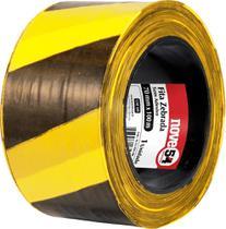 Fita zebrada sem adesivo 70mmx100m amarela e preta - Nove54 -