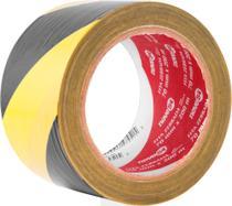 Fita zebrada sem adesivo 70mmx200m amarela e preta - Nove54 -