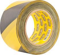 Fita zebrada sem adesivo 70mmx200m amarela e preta - Vonder -