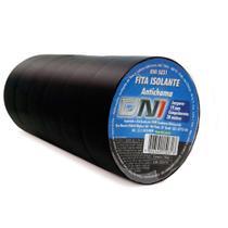 Fitas Isolante Anti Chama Preta DNI 5031 19mm X 20 Metros Pacote De 10 Rolos -