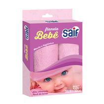 Flanela bebe rosa menina saif 30x30cm -