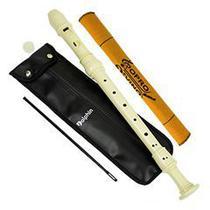 Flauta Doce Barroca Contralto do ABS Marfim Dolphin Cod.7650 -