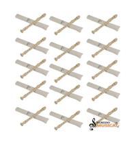 Flauta Doce Soprano Barroca Dolphin Abs + Capa + Vareta Kit Com 15 Unidades -