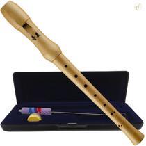 Flauta Doce Soprano Qimei Wood Madeira Barroca -