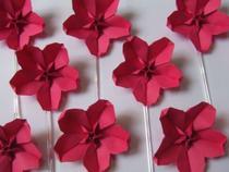 Flor de Cerejeira Sakura  Topper - Ateliê Do Origami