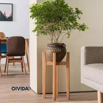 Floreira Decorativa Suporte Pedestal Chão Planta Vaso Mod100 - Oivida