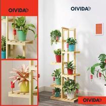 Floreira Prateleira Pedestal Madeira Vaso Flores Decoração Mod101 - Gartur