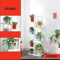 Floreira Prateleira Pedestal Madeira Vaso Flores Mod101 - Oivida