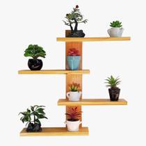 Floreira Vertical Rústica Com 4 Prateleiras de 26cm Cada Flower Plus - Palleter -