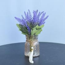 Flores artificiais Arranjo de Lavandas no Vaso Âmbar Formosinha -