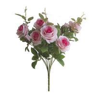 Flores Artificiais Buquê de Rosas Diana Pink  Linha permanente Formosinha -