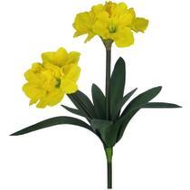 Flores Artificiais - Haste de Amarílis Duplo Amarelo  Formosinha -