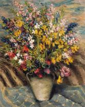 Flores do Campo (1940) - Marcel Dyf - 50x63 - Tela Canvas Para Quadro - Santhatela