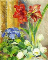 Flores nos Vasos - Isaac Grünewald - Tela 50x62 Para Quadro - Santhatela