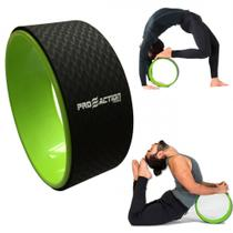 Flow Wheel Roda de Pilates Macig Circle Verde com Preto Proaction -