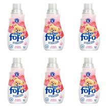 Fofo Amaciante De Roupas Concentrado 500ml (Kit C/06) -